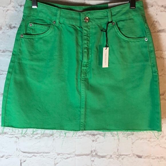 f92596933 Topshop Skirts | Kelly Green Denim Jean Midi Skirt | Poshmark